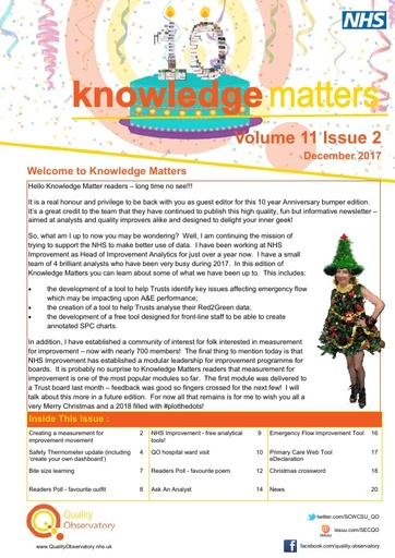 Knowledge Matters Volume 11 issue 2